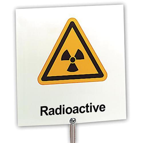 Табличка с предупреждением: «Радиоактивность» - 1000919 - U8483218 - Учебное оборудование по физике - 3B Scientific