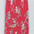 "Necktie ""Eating skeleton"", Red- Silk, 1005523 [W41064], Узлы и замки"
